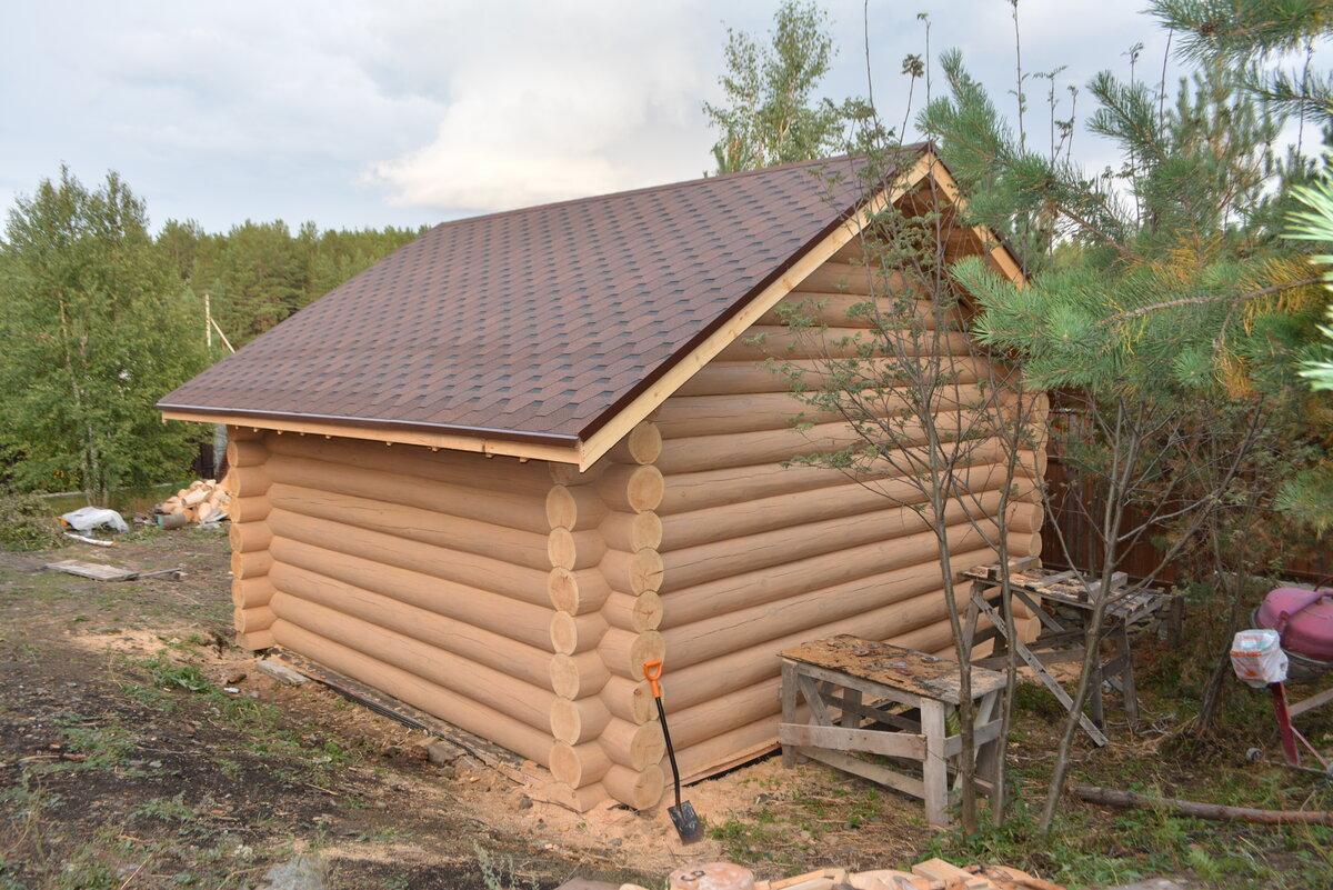 Крыша бани своими руками - односкатная, двускатная (+фото, чертежи)