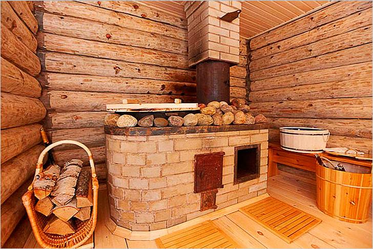 Каменная печь для бани -плюсы и минусы   строительство бани
