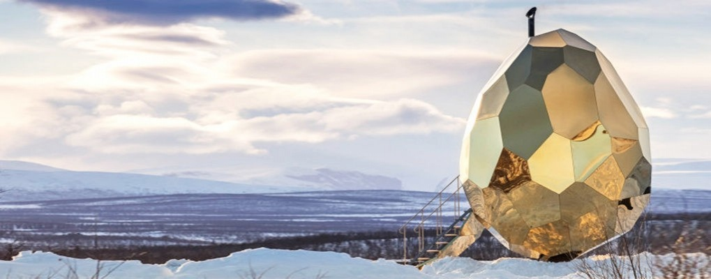 Сауна в виде золотого яйца – фото и описание
