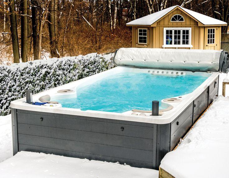 Зимний бассейн на даче с подогревом
