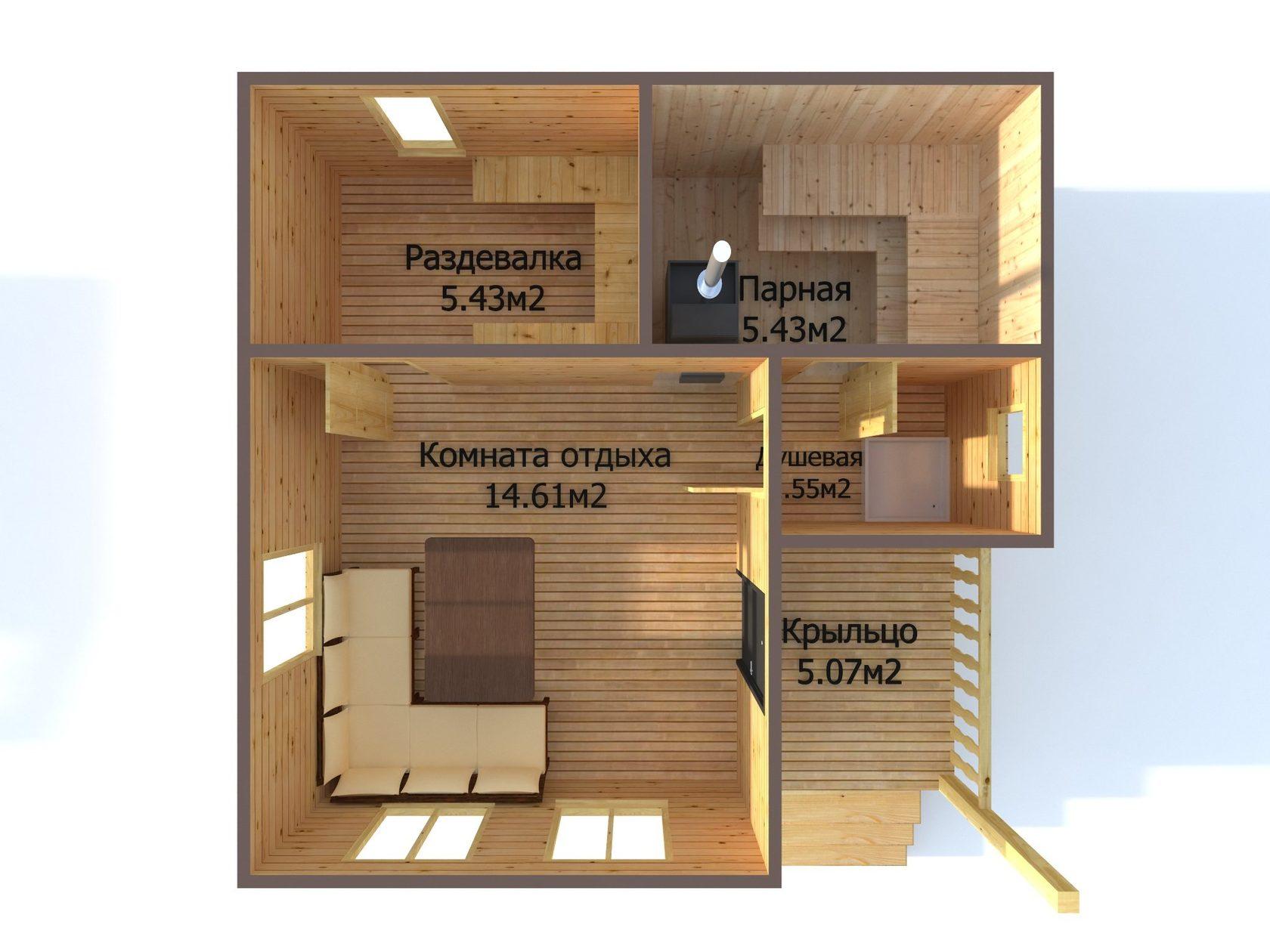 Проект бани из бруса 6х4: особенности составления, постройки и планировки, фото | построить баню ру