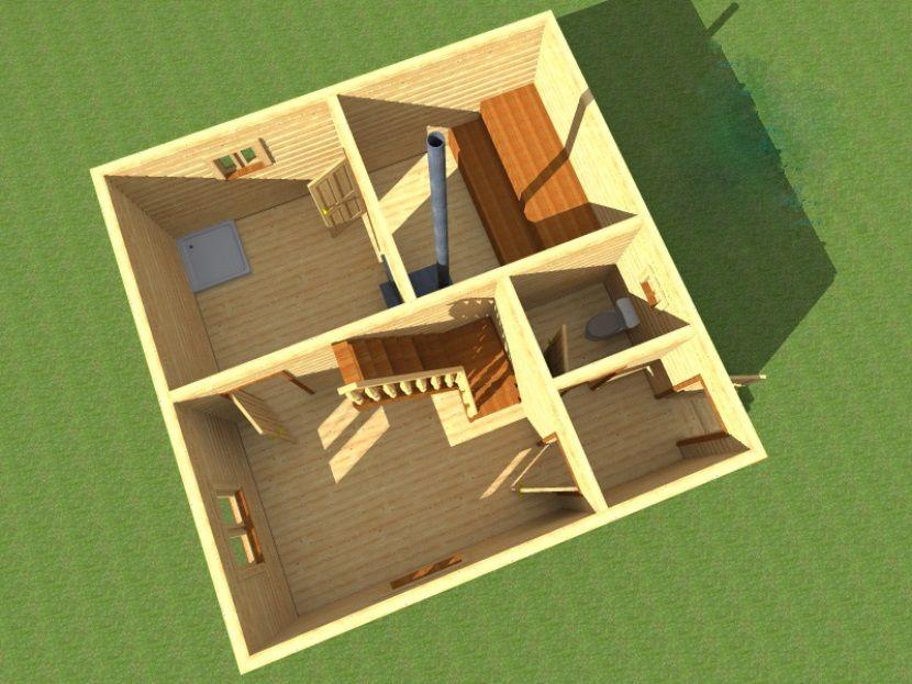 Проекты бань 6 на 6 с мансардой: преимущества, особенности составления | построить баню ру