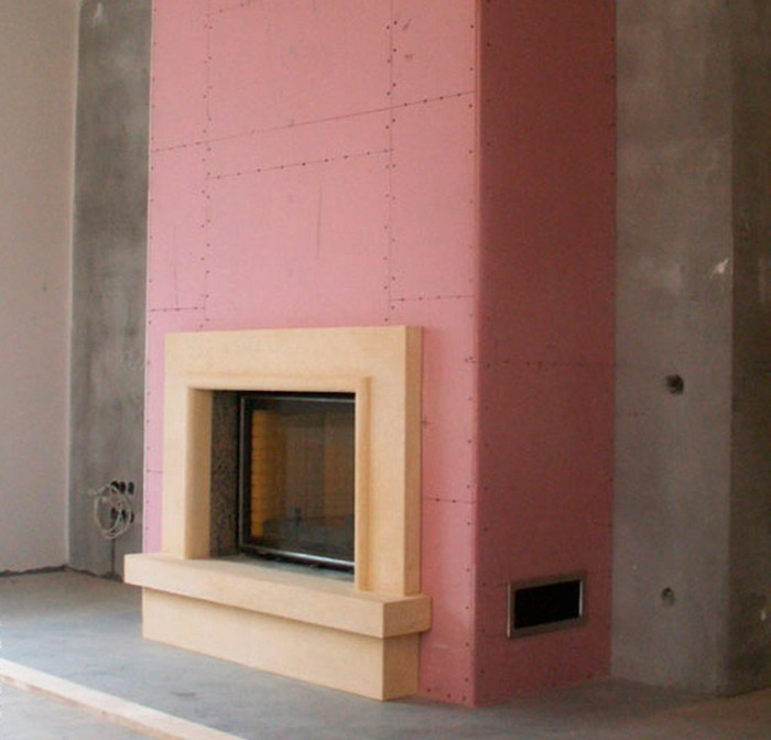 Термостойкий гипсокартон для камина — характеристики жаропрочного огнезащитного гипсокартона