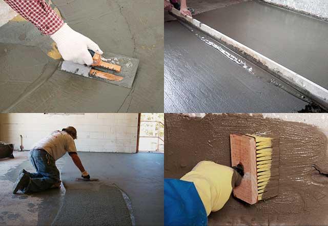 Обработка бетонных поверхностей: виды