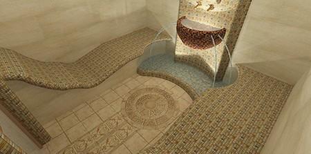 Принципы обустройства бани в ванной