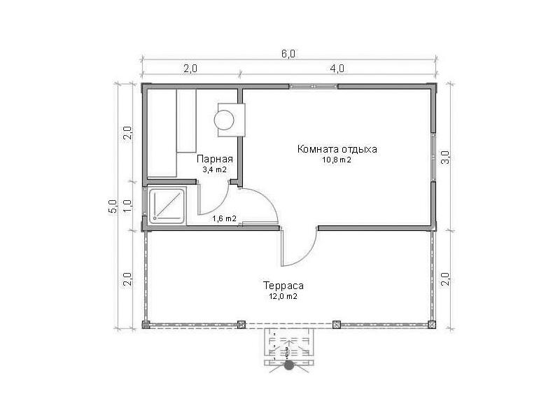 Проект бани 4х5 м (53 фото): планировка внутри бани, план мойки и парилки отдельно, примеры организации интерьера сауны