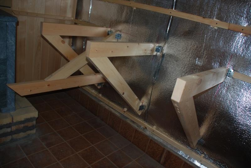 Как сделать откидной полок для бани