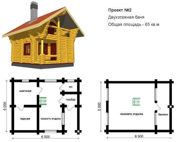 Проекты лучших двухэтажных бань