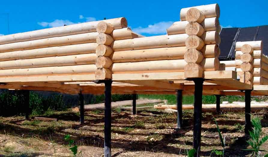 Как сделать фундамент для бани на сваях: дешево и сердито