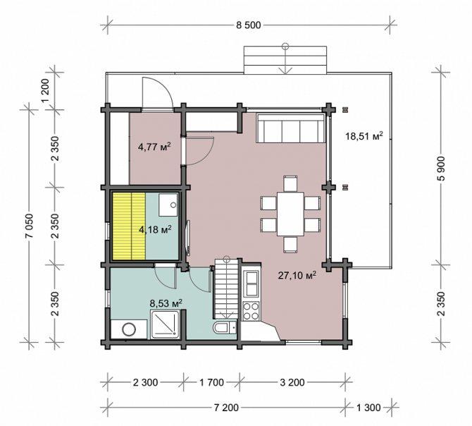Дом с баней под одной крышей: планировка, строительство, проекты и фото