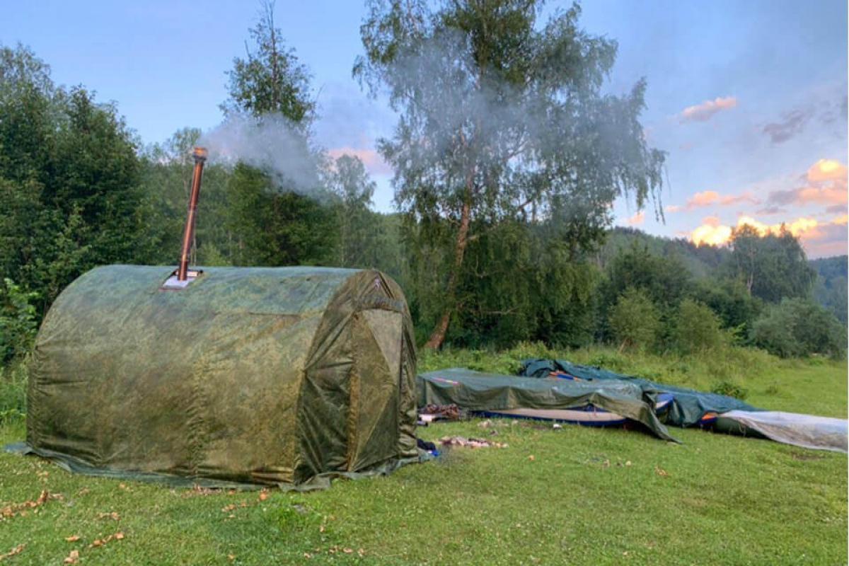 Если хочется попариться даже на природе, то без неё не обойтись! как сделать печь для походной бани?