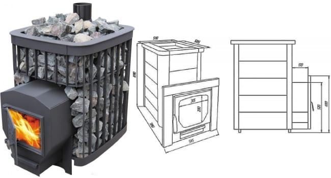 Печь для бани «варвара»: модели и технология монтажа