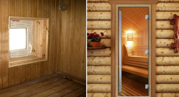 Размер окна в бане: какие бывают варианты - в предбанник, в комнате отдыха, в парилке