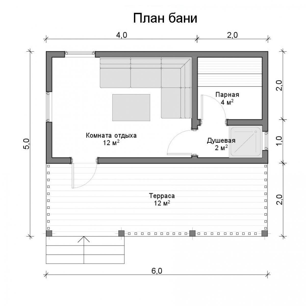 Проекты бань из кирпича - варианты планировки, способы обустройства!