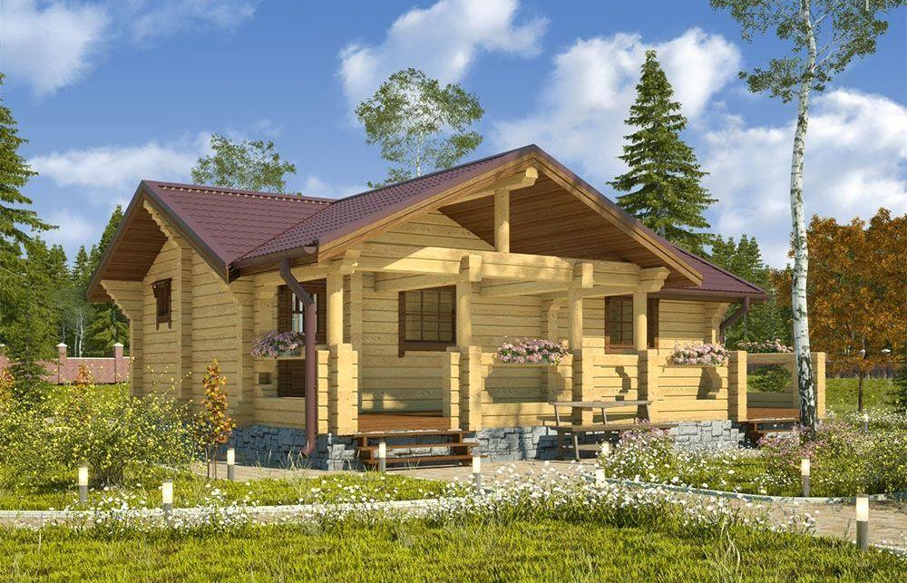 Дом из бруса с мансардой, деревянный дачный домик с мансардой, планировки дома из бруса с мансардой