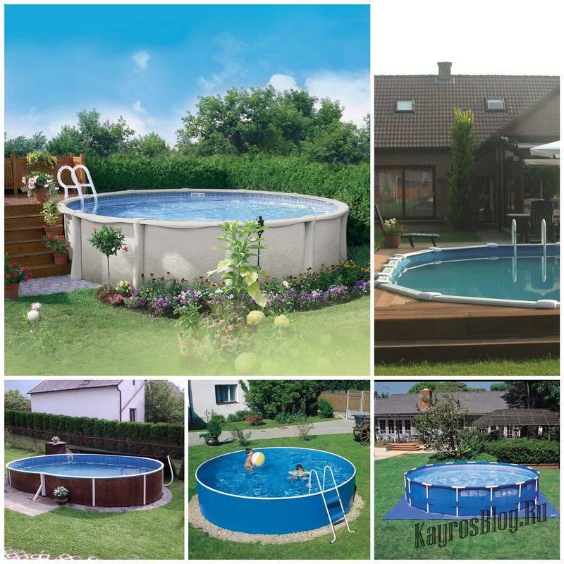 Какие бывают размеры каркасных бассейнов — круглых, овальных и прямоугольных?