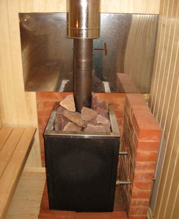 Установка печи в бане с выносной топкой: устанавливаем печь своими руками