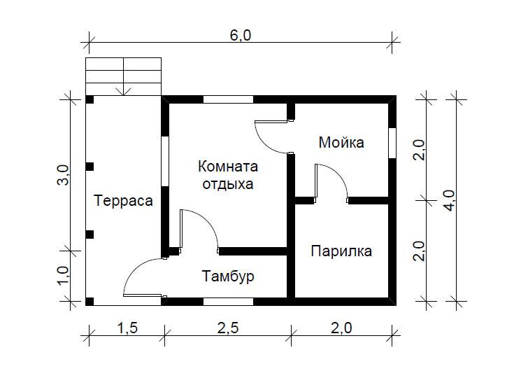Как создать проект бани 6х4 и воплотить его в жизнь, постройка и варианты её усовершенствования