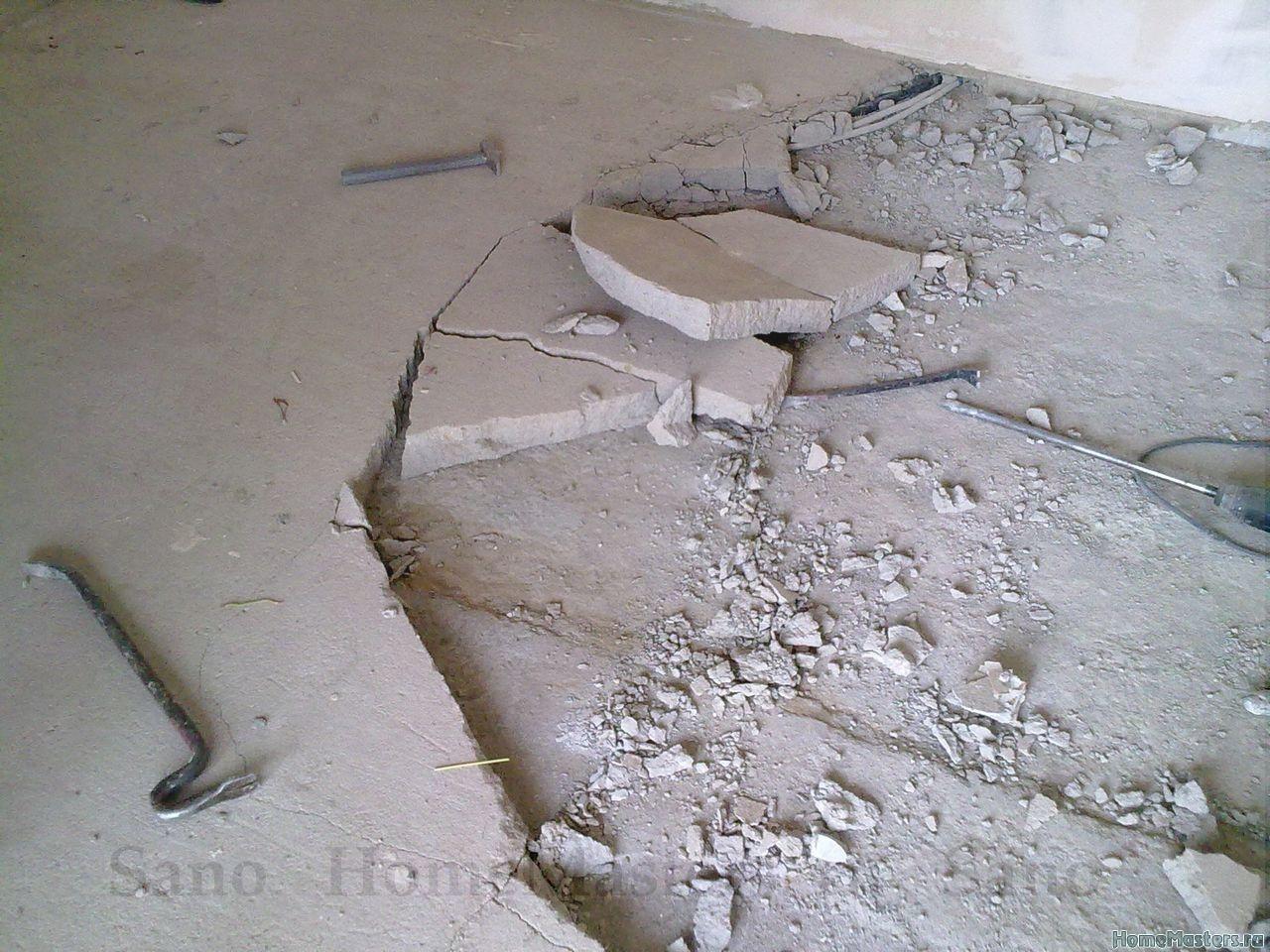 Трещины на наливном полу — причины появления и способы устранения