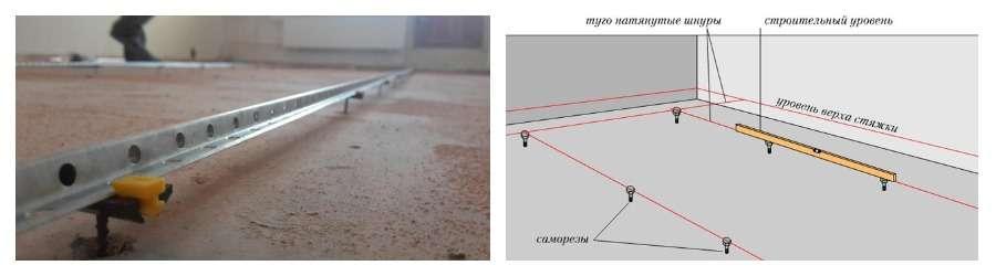 Маяки для выравнивания пола - обзор видов конструкций и их особенностей