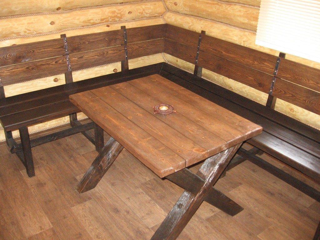 Деревянная мебель для бани: интерьер своими руками