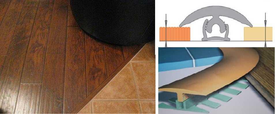 Стык плитки и ламината (72 фото): как состыковать с помощью порожка, оформляем стыковку порога с помощью пробкового компенсатора