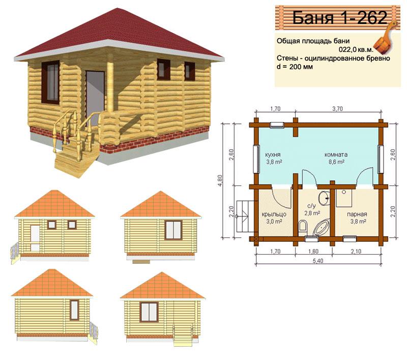 Баня из кирпича, проекты и варианты планировок, этапы строительства, фото