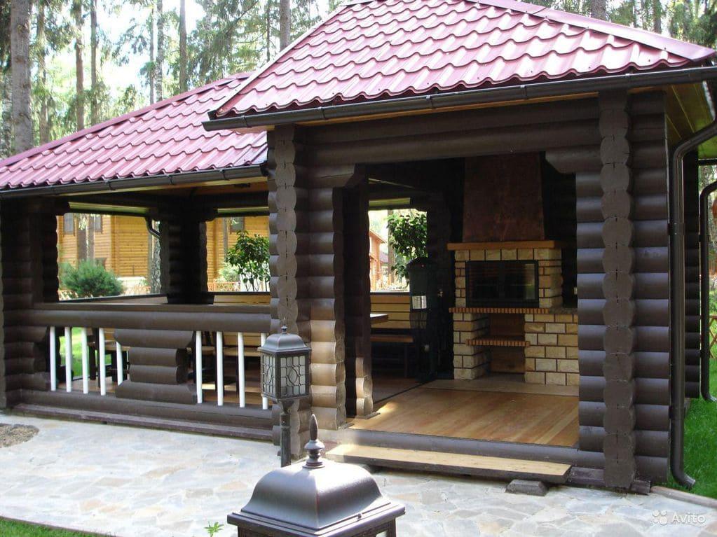 Проекты бань с беседкой под одной крышей: дизайн бани с верандой, барбекю и мангалом, фото и видео