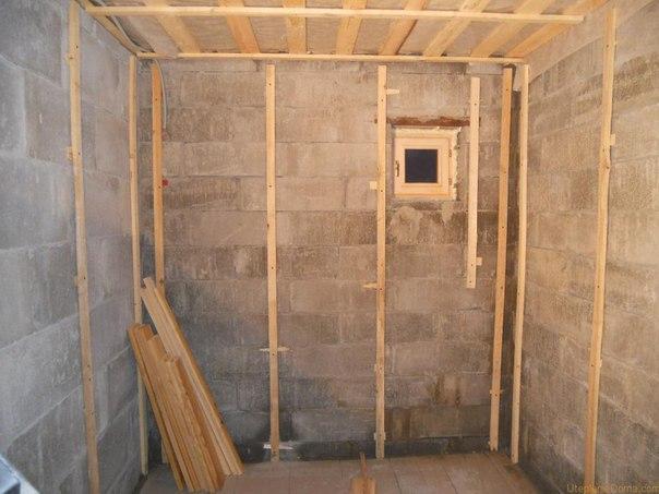 Как провести ремонт внутри бани?