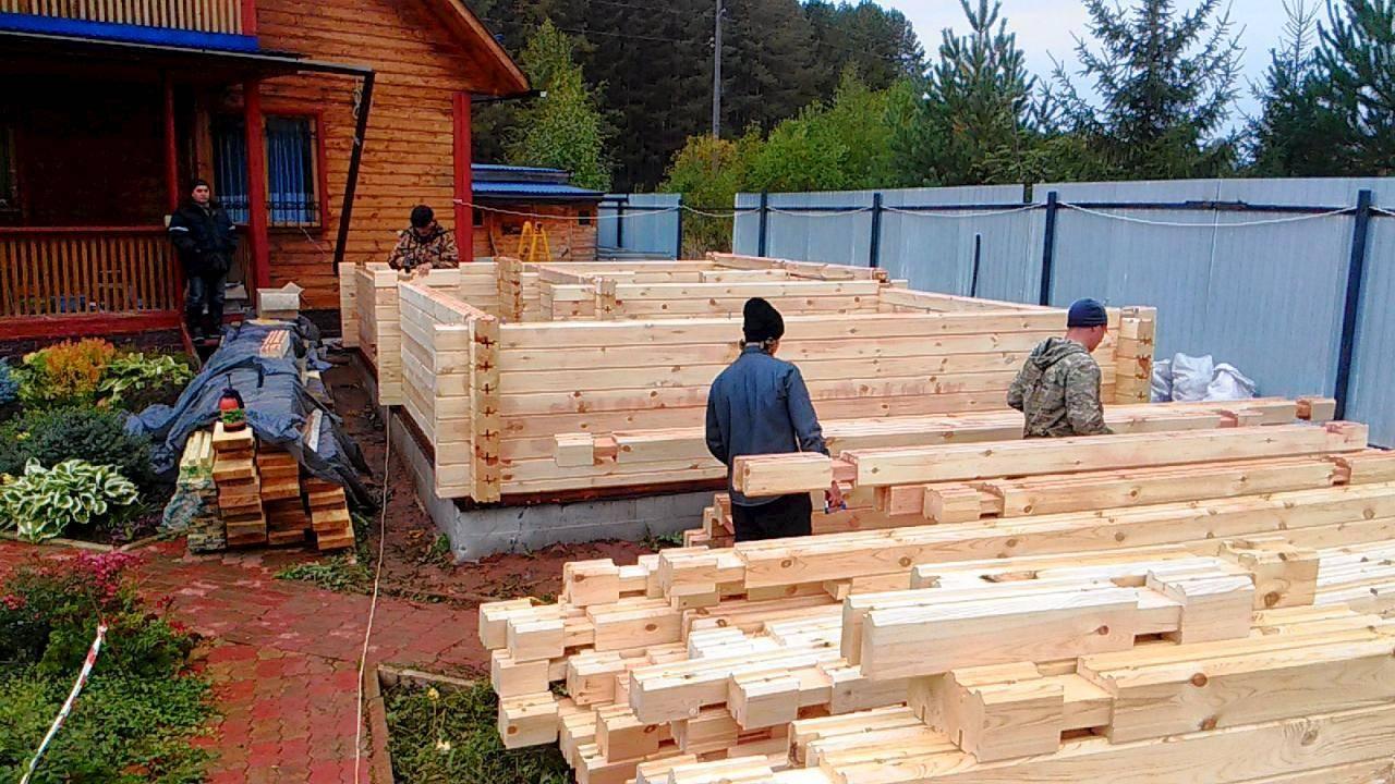 Баня из профилированного бруса своими руками - строим баню или сауну