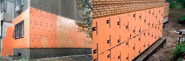 Как крепить пеноплекс к стене снаружи и внутри