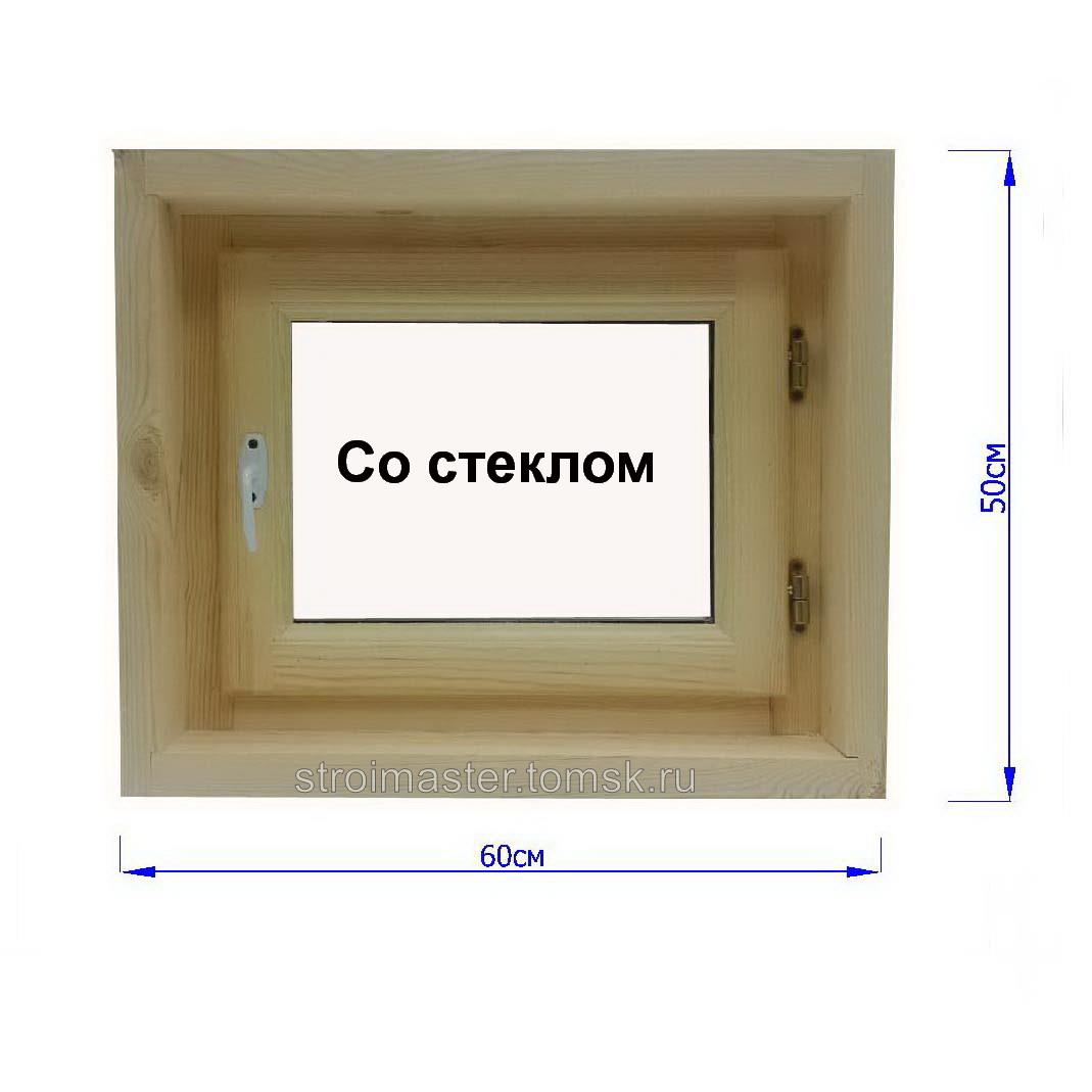 Размер окна в парилке бани