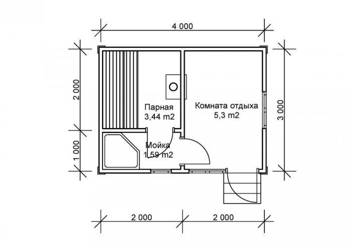 Планировка бани 3 на 6 (32 фото): оформление конструкции размером 3х6 внутри, план постройки в два этажа метражом 6х3