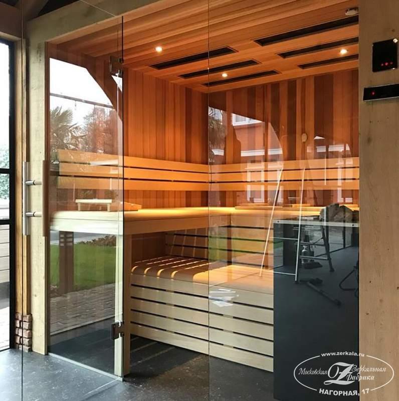 Выбор модели стеклянной банной двери | дом идей
