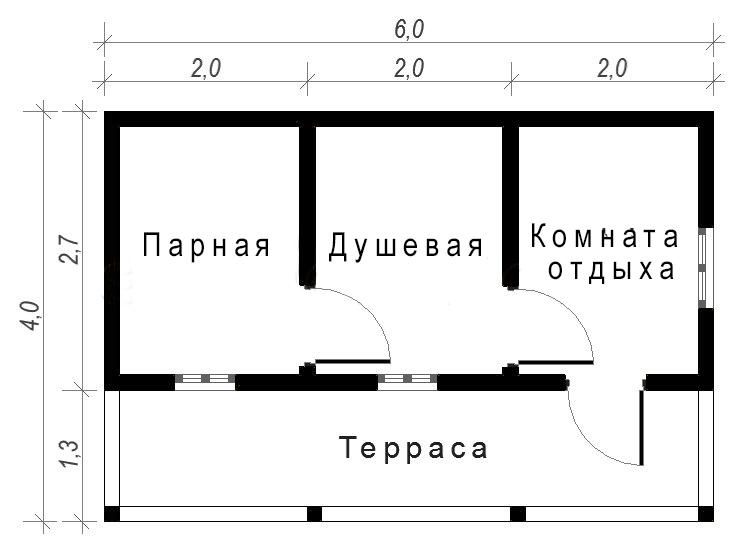 Проекты бань 6 на 7: особенности составления, фото и схемы