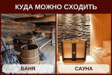 Чем отличается баня от сауны – коротко и понятно о различиях