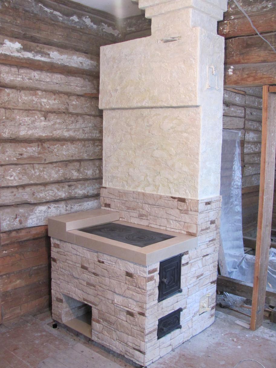 Штукатурка для печей и каминов декоративная, термостойкая краска, огнеупорная шпаклевка, чем отделать печку в доме своими руками