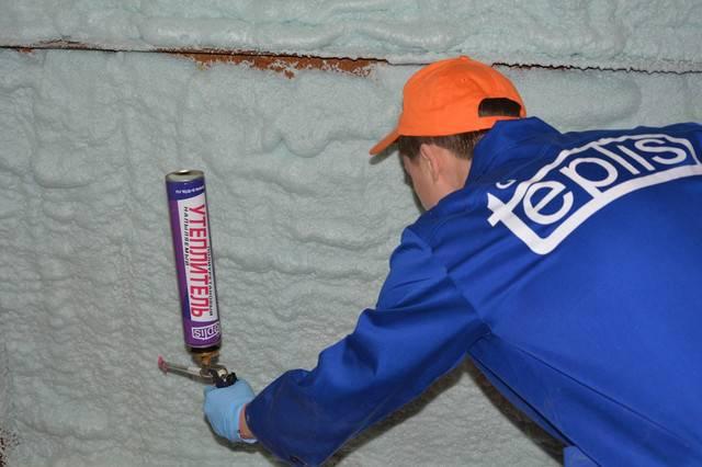 Пена утеплитель для стен в баллонах | всё об отоплении