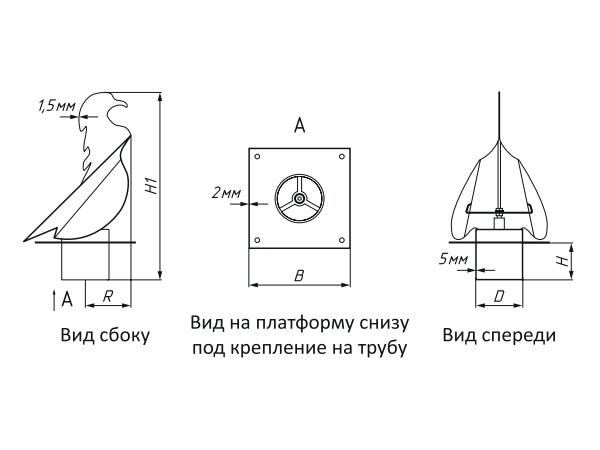 Дефлектор вентиляционный своими руками