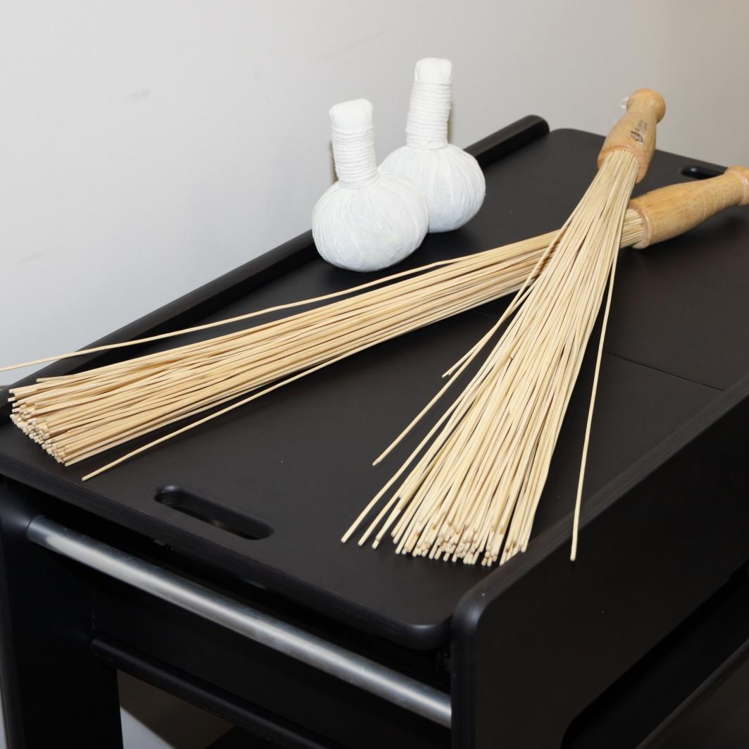 Японский массажный бамбуковый веник для бани из палочек - рассказываем как правильно пользоваться
