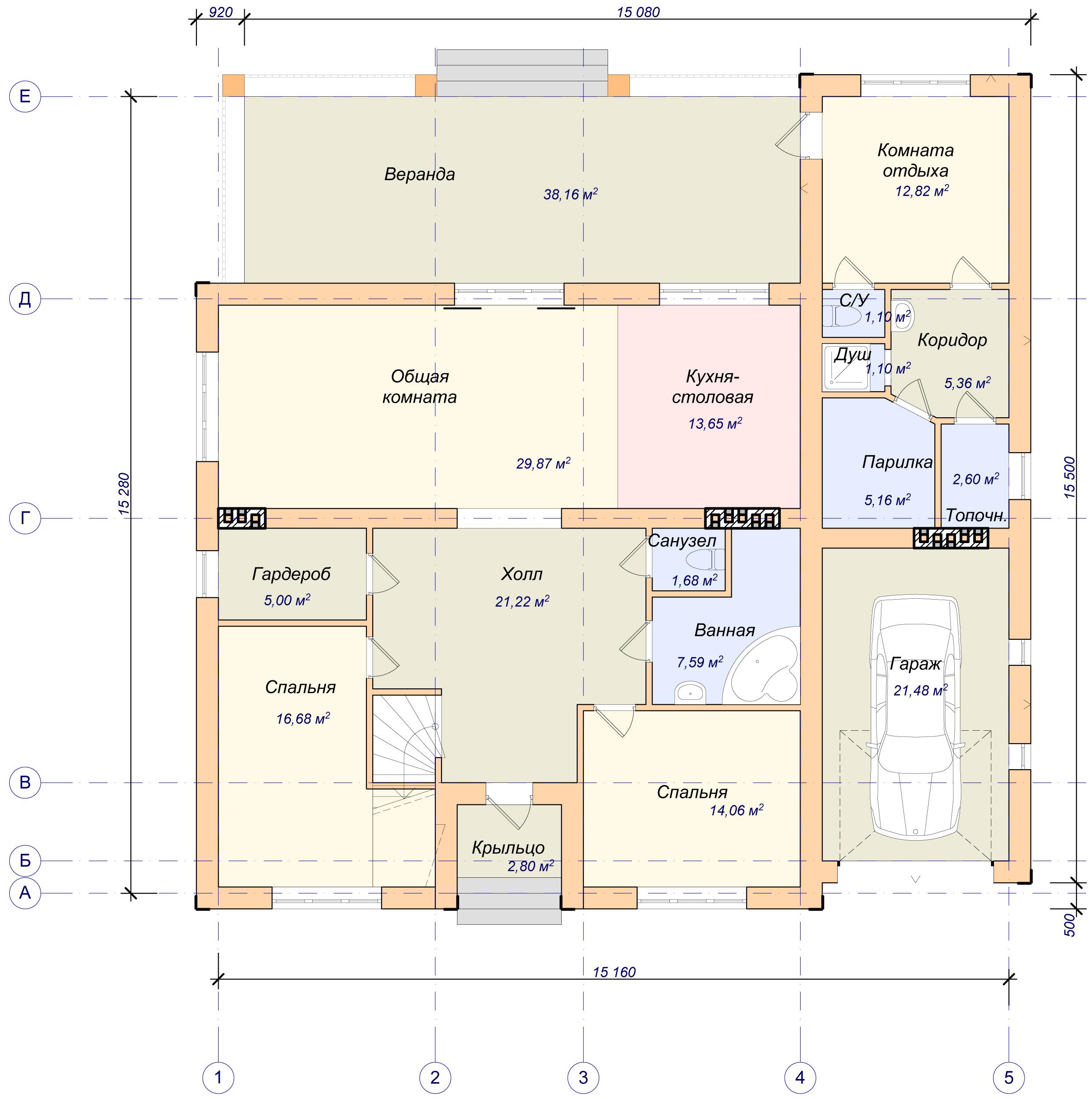 Проекты одноэтажных домов цены под ключ, проекты в москве