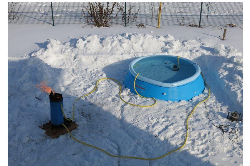 Солнечный коллектор для подогрева бассейна