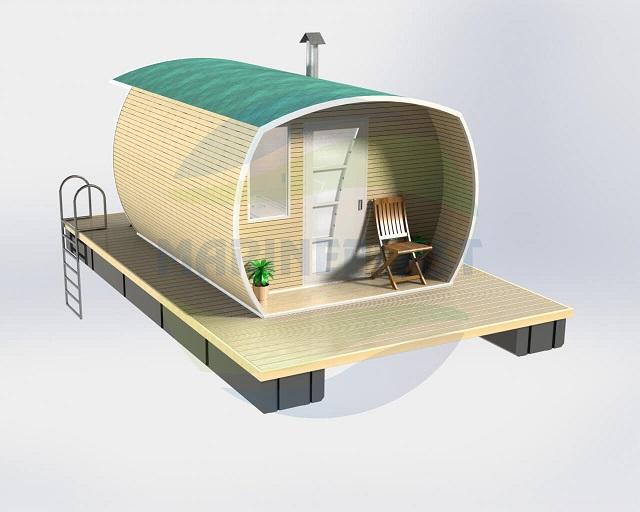 Как построить баню на плаву