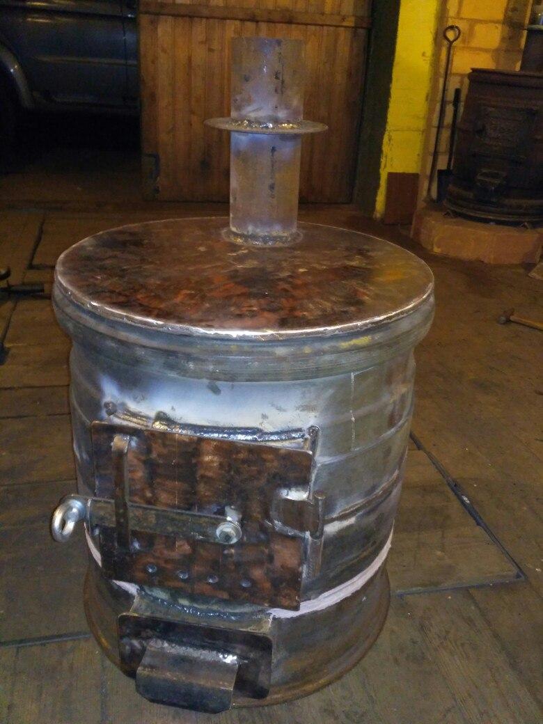 Печка из дисков колес для гаража - о строительстве и ремонте простыми словами