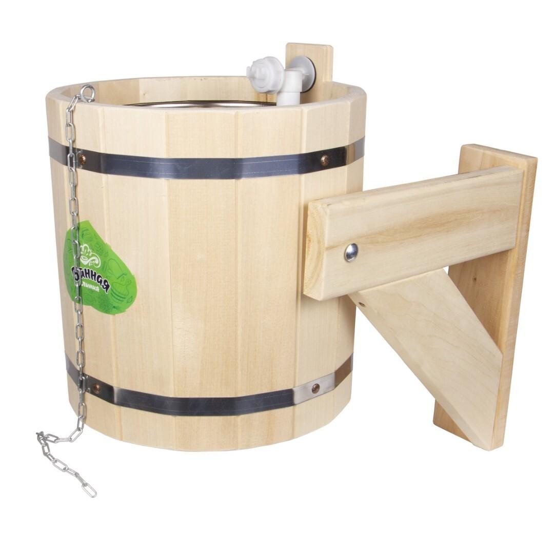 Ведро для бани [сауны]: устройство для обливания своими руками