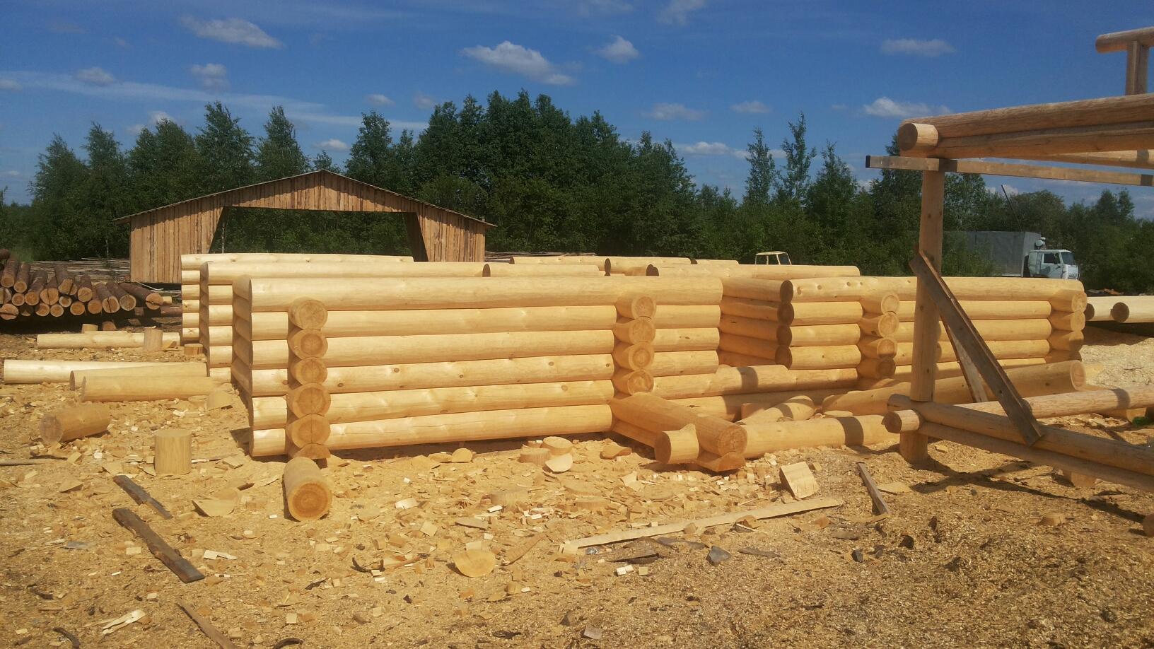 Строительство бани из бревна – пошаговая технология