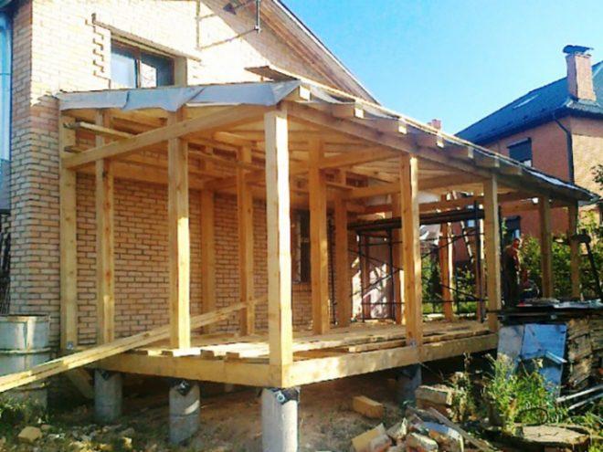 Проекты бань с террасой — подборка вариантов