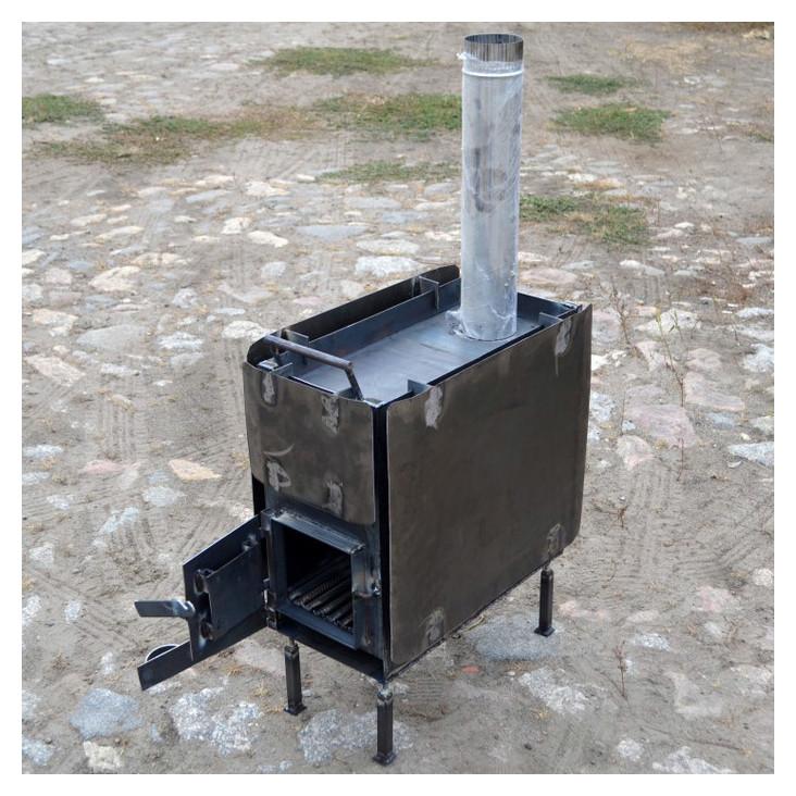 Печка для палатки своими руками: длительного горения или экономка, чертеж сухотрубной системы