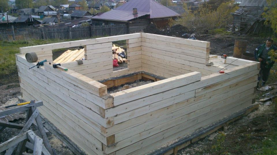 Строительство деревянных бань из бруса своими руками.