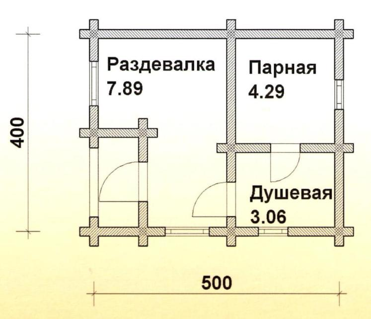 Тонкости планировки бани размером 4х4